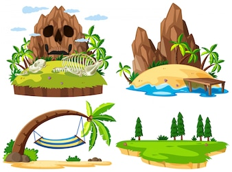 Set verschiedene Insel