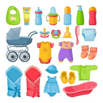 Set verschiedene werkzeuge für neugeborenes baby