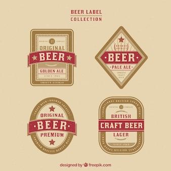 Set vintage bier abzeichen