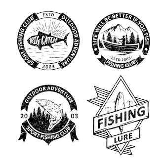 Set vintage fischenabzeichen