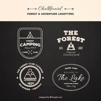 Set vintage logos expedition