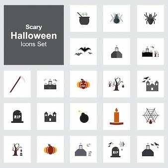Set von 21 halloween icons
