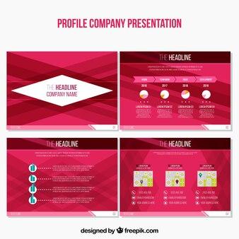 Set von abstrakten business-präsentationen