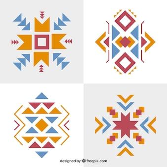 Set von abstrakten ethnischen formen