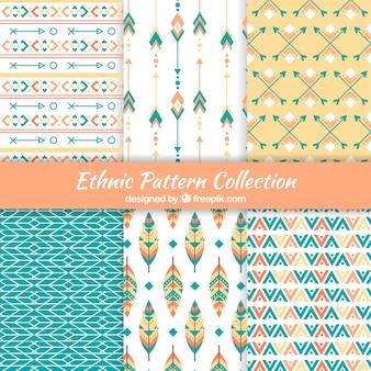 Set von abstrakten muster im ethno-stil