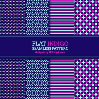 Set von abstrakten mustern in flaches design
