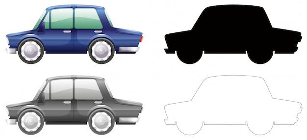 Set von auto-grafik