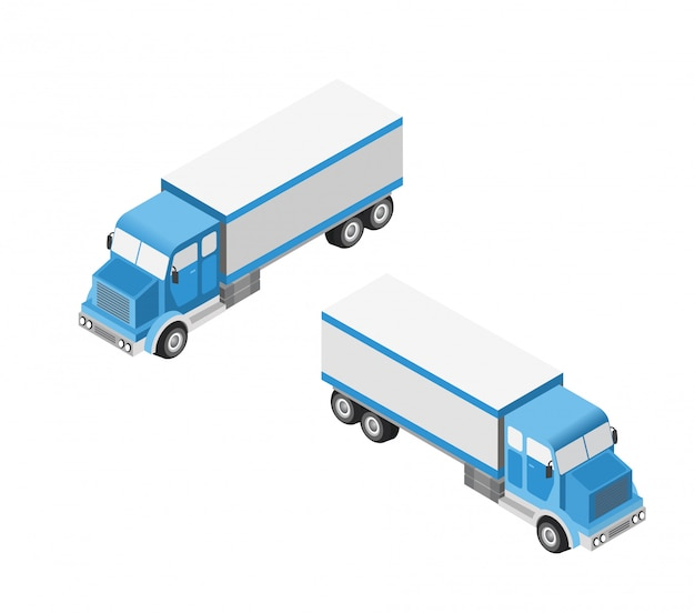Set von autos und lastwagen