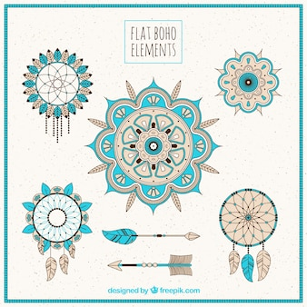 Set von awesome boho elemente