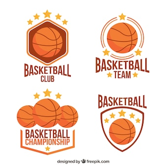 Set von basketball-abzeichen