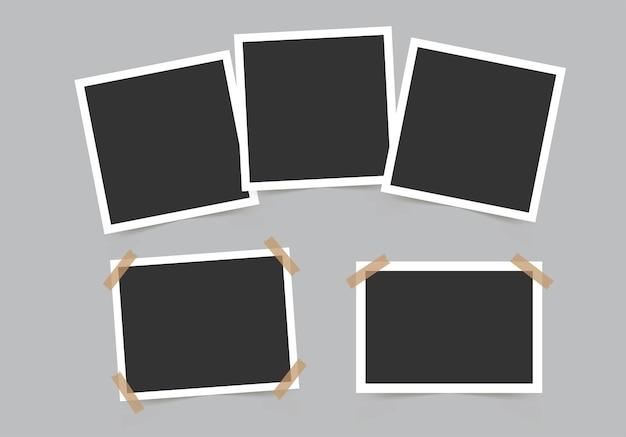 Set von bilderrahmen vorlage für ihre fotos