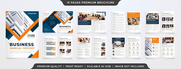 Set von business bifold broschüre premium-vektor