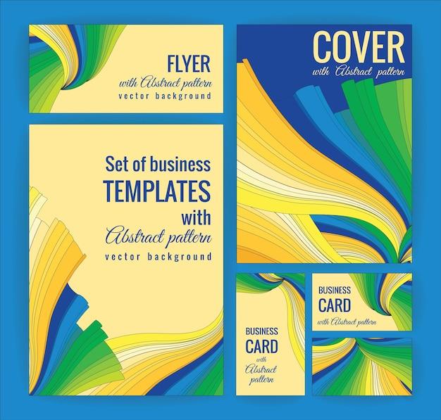 Set von business-vorlagen mit abstrakten muster. vektor hintergrund.