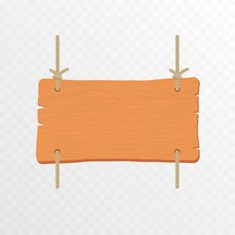Set von cartoon-holz-zeigerplatten hängendes holzschild holzzeiger-plaketten