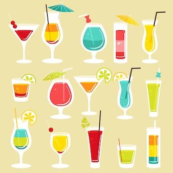 Set von cocktails