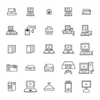 Set von computer-symbol