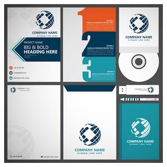 Set von corporate business branding