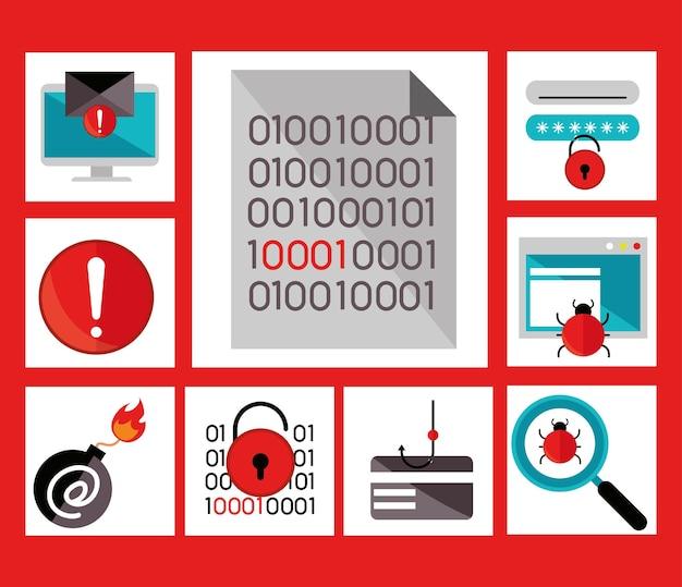 Set von cyber-viren