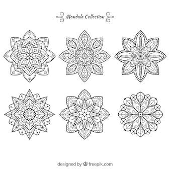 Set von dekorativen mandalas