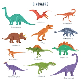 Set von dinosauriern