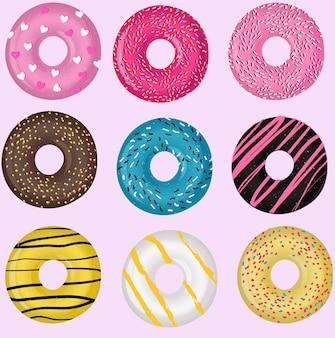 Set von donuts