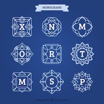 Set von eleganten vintage monogramme