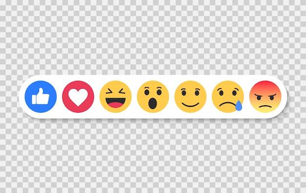 Set von emoji. emoticons flach gesetzt