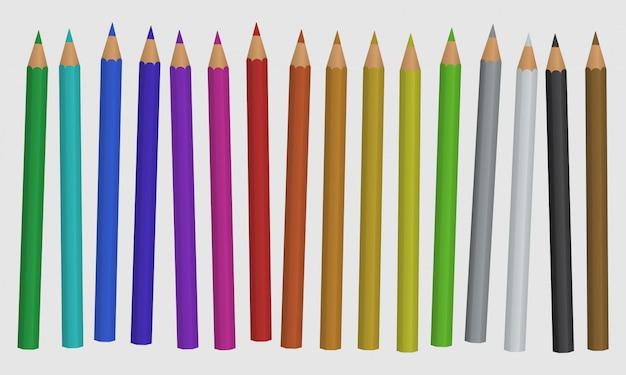 Set von farbstiften