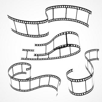 Set von filmstreifen