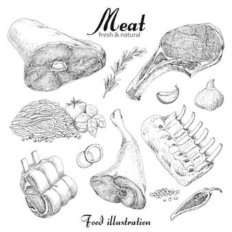 Set von fleisch