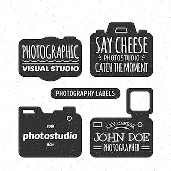 Set von fotoetiketten im vintage-stil