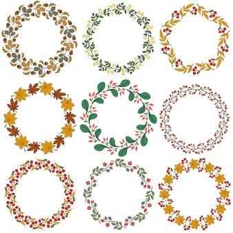Set von froral dekorativen ornamenten vektor-illustration