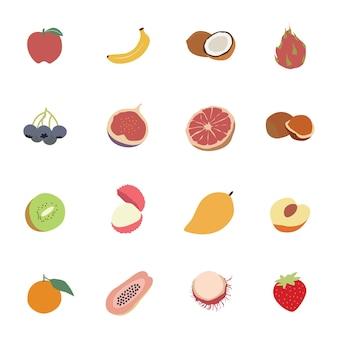 Set von früchten
