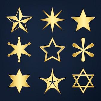 Set von gemischten sternen