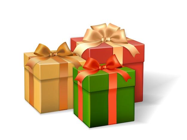 Set von geschenkboxen