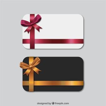 Set von geschenkkarten