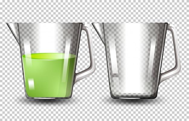 Set von glaskrügen