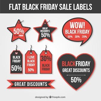 Set von großer etiketten für black friday