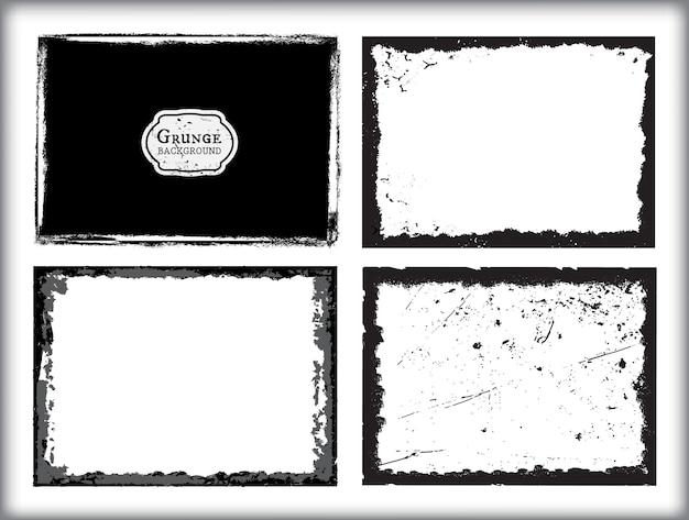 Set von grunge-frames