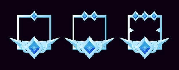 Set von gui-rand für avatar und andere mit grad, perfekt für spiele und game-ui-asset-elemente