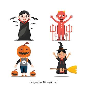 Set von halloween-figuren