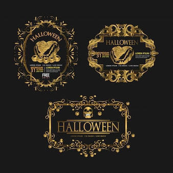 Set von halloween luxus
