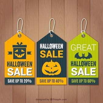 Set von halloween-tags zum verkauf