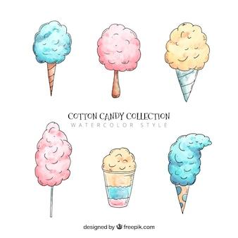 Set von hand gezeichneten süßigkeiten cottons