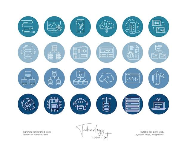 Set von handgezeichneten strichzeichnungen vektorgrafiken für social media oder branding