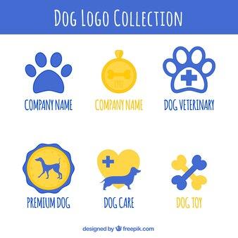 Set von hund logos
