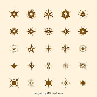 Set von ikonischen sternen
