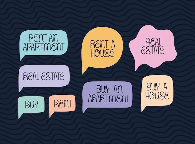 Set von immobilienblasen