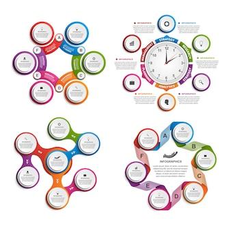 Set von Infografiken.