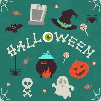 Set von isolierten halloween-symbol